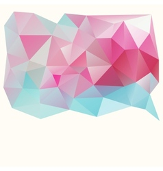 Triangle pattern background vector image vector image