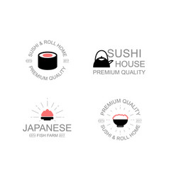 vintage japanese food and sushi wasabi soy vector image