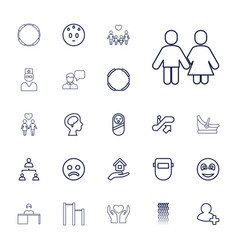 22 people icons vector