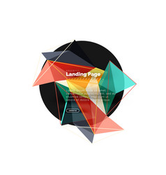 3d triangle abstract background vector