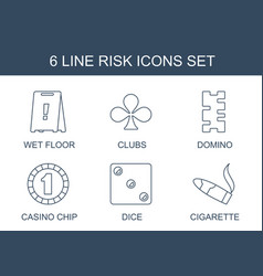 6 risk icons vector