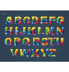a alphabet on background vector image