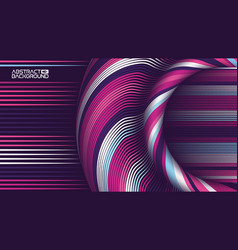 abstract art backdrop colorful curly circle line vector image