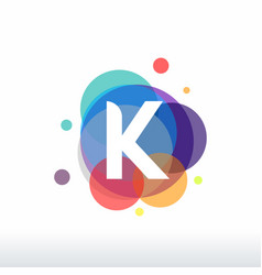 Abstract k initial logo designs concept colorful vector