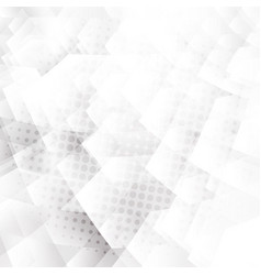 Abstract white and gray geometric hexagons shapes vector
