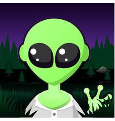 Alien portrait cartoon vector