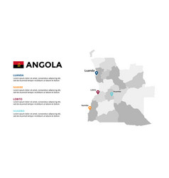 Angola map infographic template slide vector
