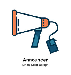 Announcer lineal color vector