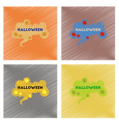 assembly flat shading style icons halloween sign vector image
