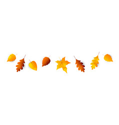 autumn leaves border collection leaves vector image
