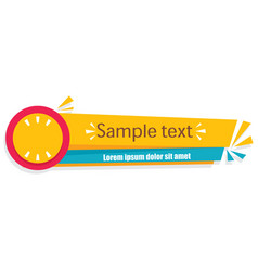 Banner yellow tag image vector