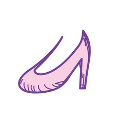 Beautiful high heel shoes design vector
