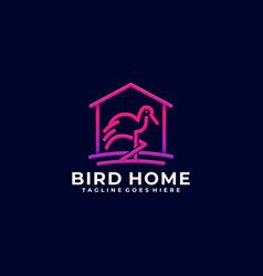 Bird home design template vector