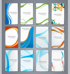 Business cards brochures or banners set of vector