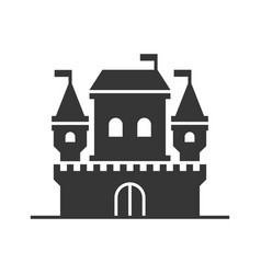 castle tower icon on white background vector image