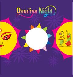 celebrate navratri festival poster card design vector image