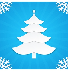 christmas postcard tree 1 vector image