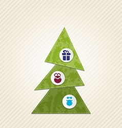 Christmas tree with infographics minimal style vector image