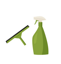 Cleaning agent spray and rubber window glass vector