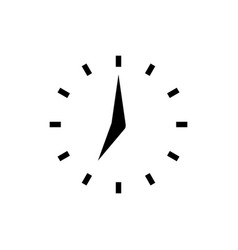 clock icon with points in flat style clock arrows vector image