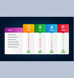 Copy files loan and laundry icons set vector