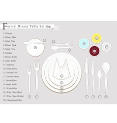 Dinner Place Setting Diagram vector