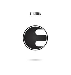 E-letter abstract logo vector
