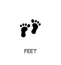 Feet flat icon vector