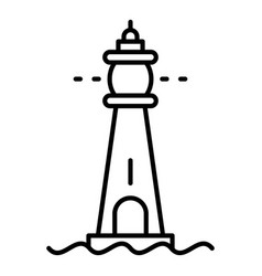 Glass lighthouse icon outline style vector