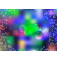 glowing blurred background with colored lights vector image