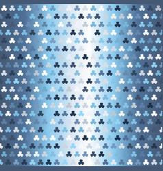 Gradient shamrock pattern seamless vector