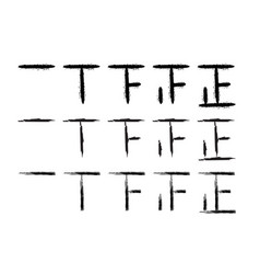 hand drawn tally marks vector image