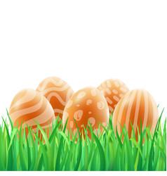 happy easter template card with realistic vector image