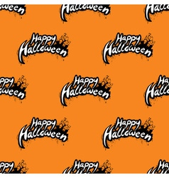 Happy Halloween seamless pattern with cemetery vector image