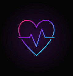 Heart beat colored icon - heartbeat pulse vector