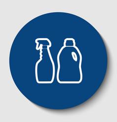 household chemical bottles sign white vector image