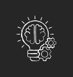 Idea generation chalk white icon on black vector
