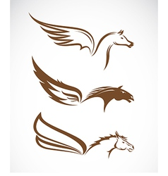 image an pegasus winged horses vector image
