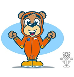 Jumpsuit Bear vector image