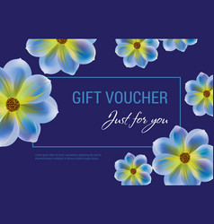 Just for you gift voucher design vector