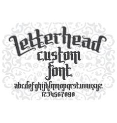 Letterhead custom Font vector