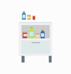 Locker with drugs icon vector