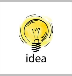 logo light bulb with concept ideas vector image