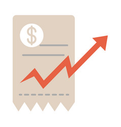Market count growing arrow rising food prices vector