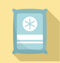 Medical sterile package icon flat style vector