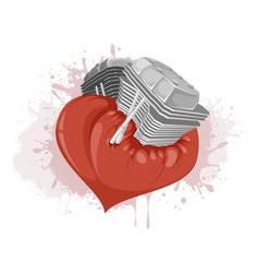 Motor in the heart vector
