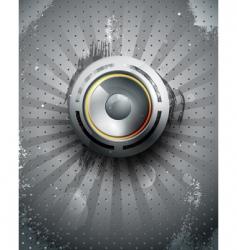 Musical speaker icon vector