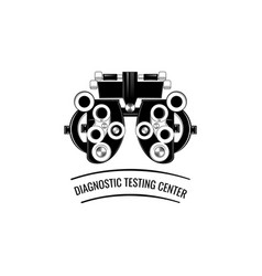 phoropter ophthalmic testing device machine vector image