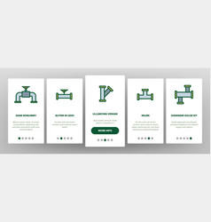 Pipeline onboarding elements icons set vector