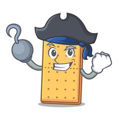 Pirate graham cookies character cartoon vector